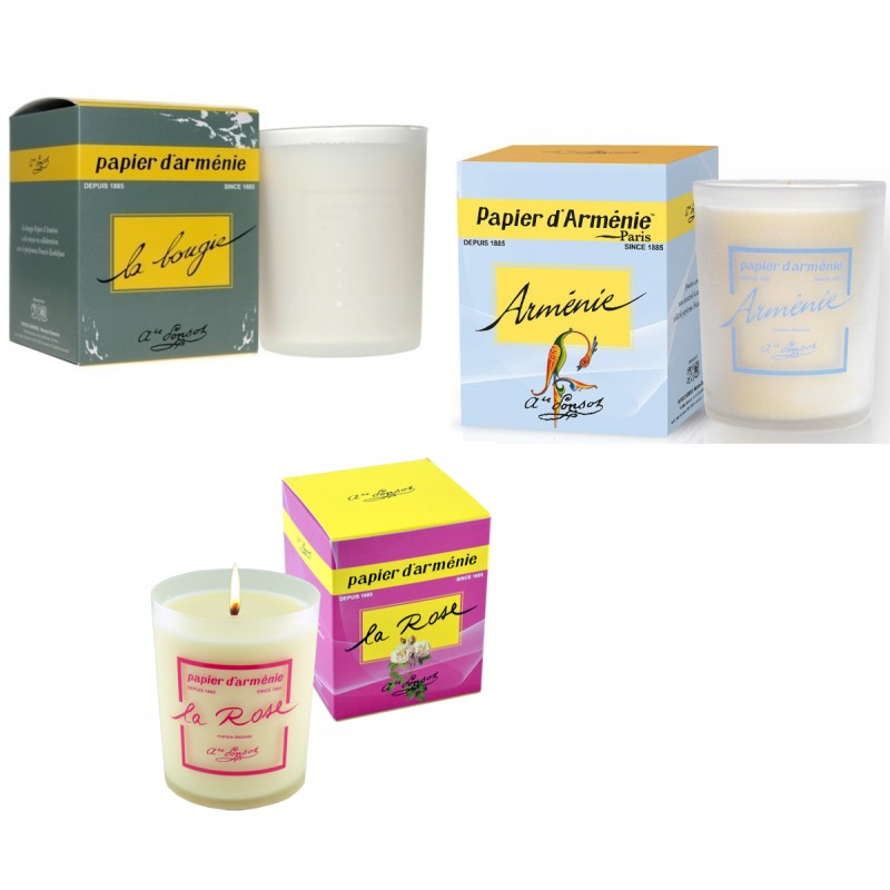 Bougies papier d armenie 3 parfums differents promo